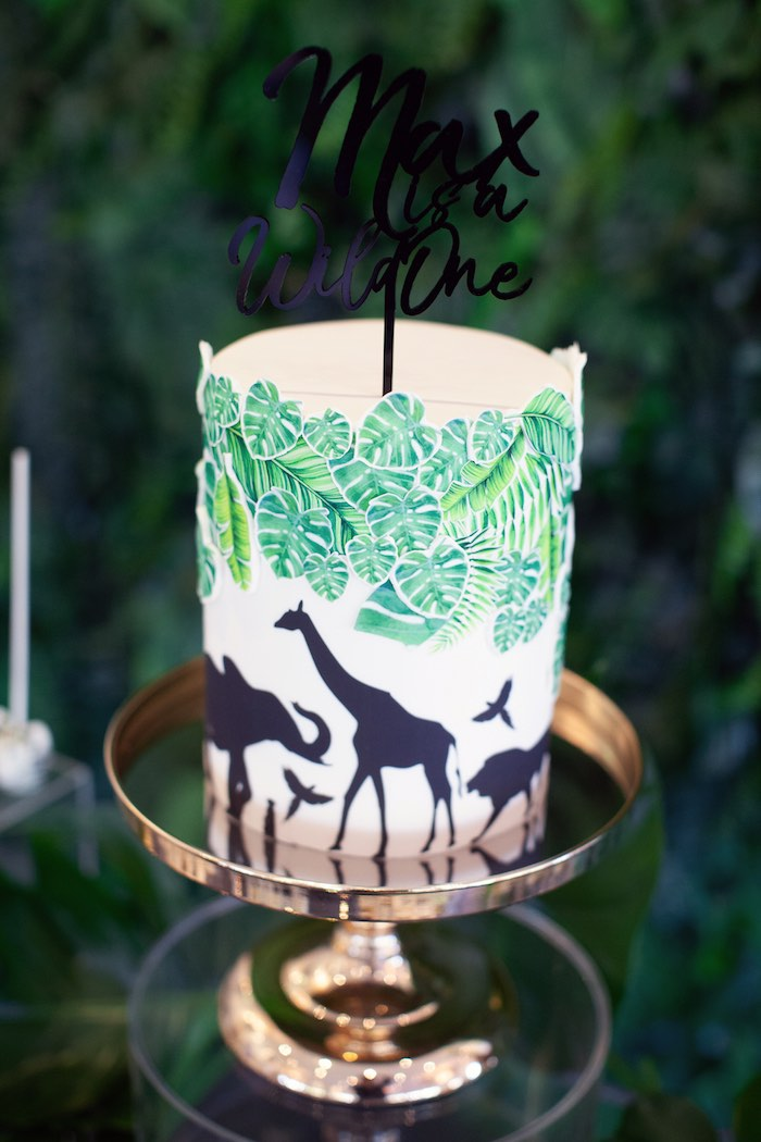 Safari Cake from a Safari Wild One Birthday Party on Kara's Party Ideas | KarasPartyIdeas.com (17)