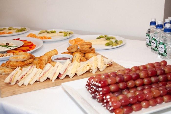 Food Table from a Safari Wild One Birthday Party on Kara's Party Ideas | KarasPartyIdeas.com (6)