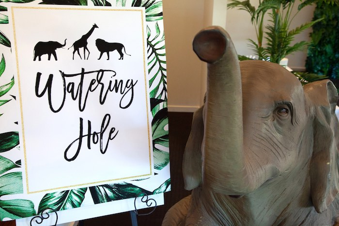 Watering Hole Safari Party Signage from a Safari Wild One Birthday Party on Kara's Party Ideas | KarasPartyIdeas.com (32)