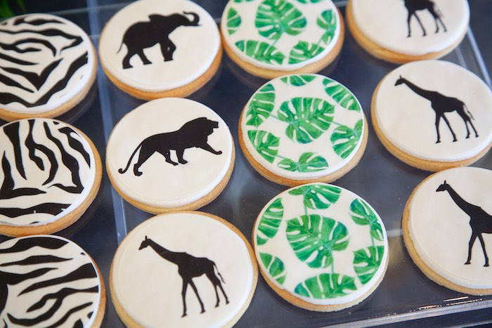 Safari Cookies from a Safari Wild One Birthday Party on Kara's Party Ideas | KarasPartyIdeas.com (29)