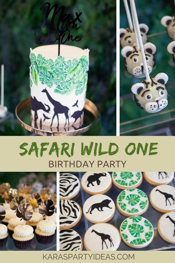 Safari Wild One Birthday Party via Kara's Party Ideas - KarasPartyIdeas.com