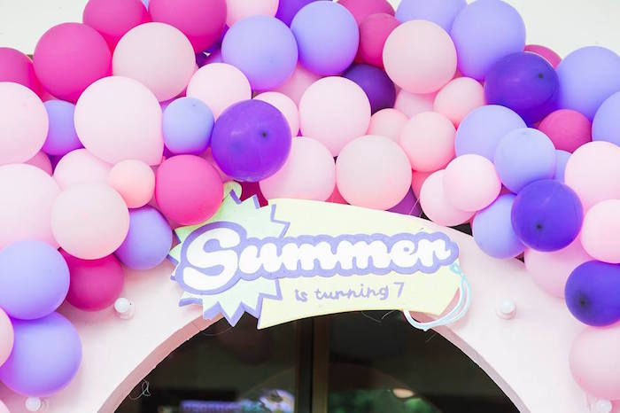 Shopkins Balloon Arch from a Shopkins Balloon Birthday Party on Kara's Party Ideas | KarasPartyIdeas.com (12)