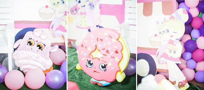 Shopkins Character Standees from a Shopkins Balloon Birthday Party on Kara's Party Ideas | KarasPartyIdeas.com (9)