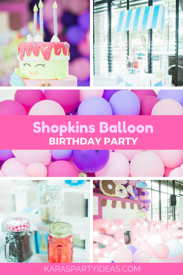 Shopkins Balloon Birthday Party via Kara's Party Ideas - KarasPartyIdeas.com
