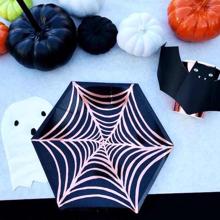 Spider Web Plate + Ghost Napkin Table Setting from a Spooky Halloween Birthday Party on Kara's Party Ideas | KarasPartyIdeas.com (15)