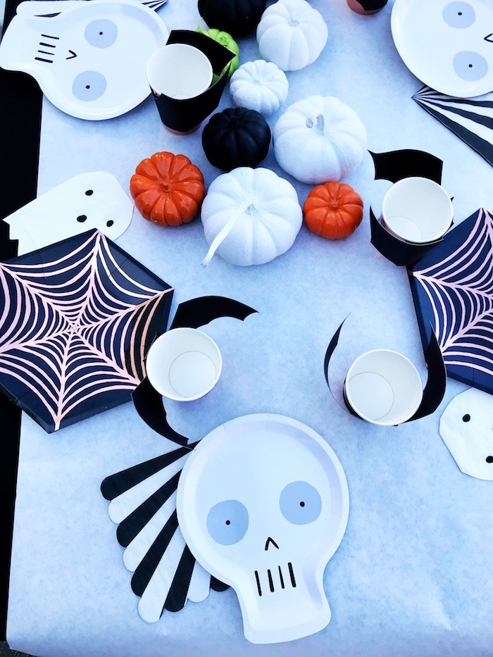 Halloween Table Settings from a Spooky Halloween Birthday Party on Kara's Party Ideas | KarasPartyIdeas.com (14)