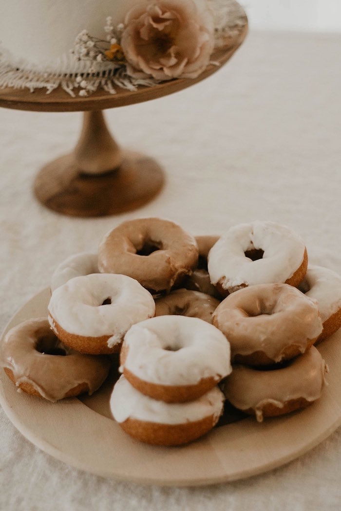 Doughnuts from a Sweet Vintage 1st Birthday Party on Kara's Party Ideas | KarasPartyIdeas.com (20)