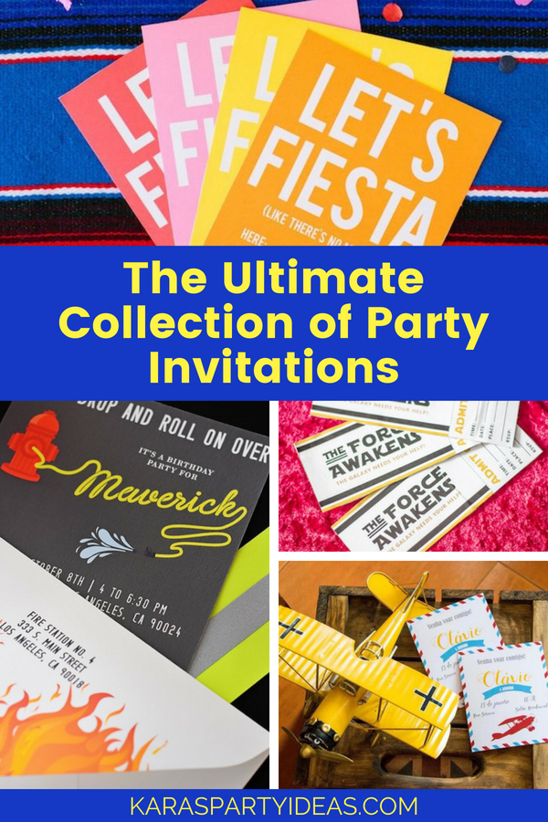 The Ultimate Collection of Party Invitations via Kara's Party Ideas - KarasPartyIdeas.com