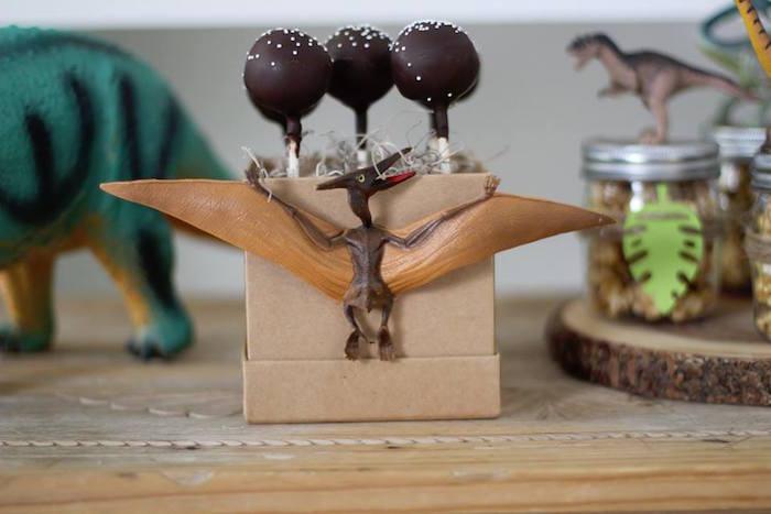 Pterodactyl Cake Pops from a Three-Rex Dinosaur Birthday Party on Kara's Party Ideas | KarasPartyIdeas.com (21)
