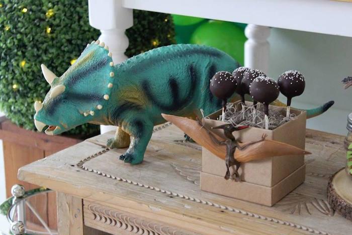 Cake Pops from a Three-Rex Dinosaur Birthday Party on Kara's Party Ideas | KarasPartyIdeas.com (19)