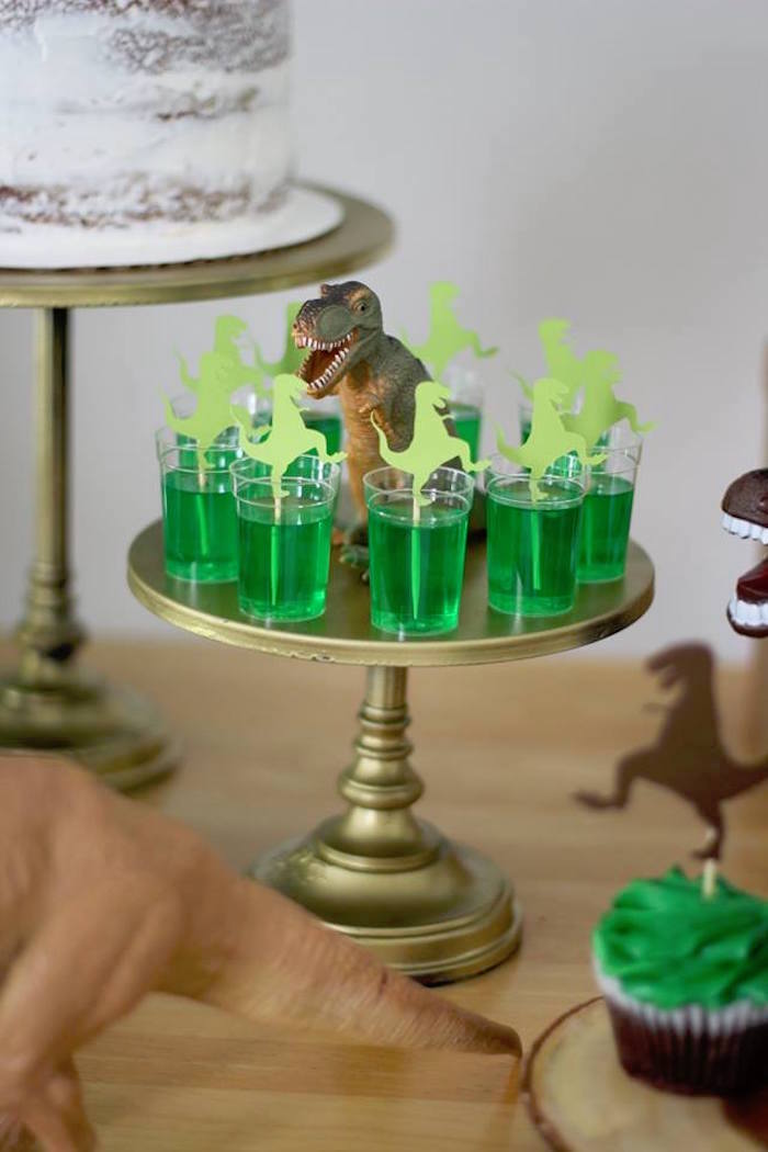 T-Rex Jello From a Three-Rex Dinosaur Birthday Party on Kara's Party Ideas | KarasPartyIdeas.com (13)