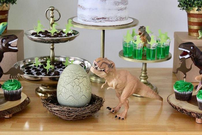 Three-Rex Dinosaur Birthday Party on Kara's Party Ideas | KarasPartyIdeas.com (31)