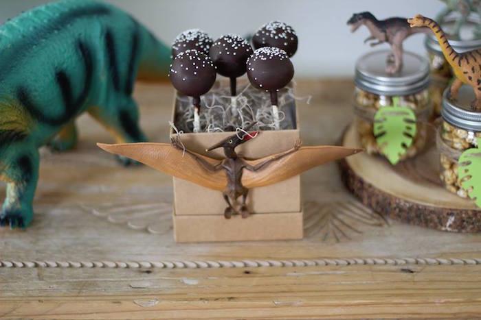 Pterodactyl Cake Pops from a Three-Rex Dinosaur Birthday Party on Kara's Party Ideas | KarasPartyIdeas.com (30)