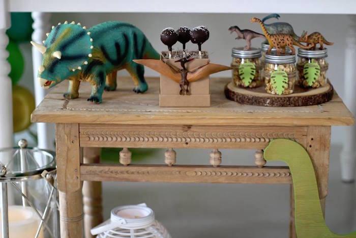 Mini Party + Snack Table from a Three-Rex Dinosaur Birthday Party on Kara's Party Ideas | KarasPartyIdeas.com (29)