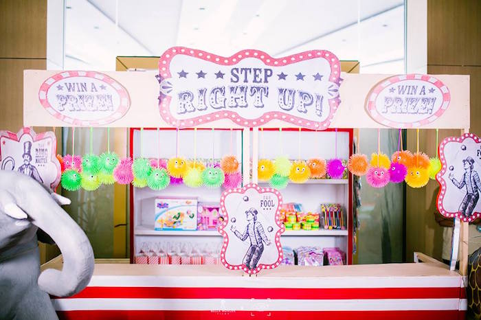 Circus Game Booth from a Traditional Circus Birthday Party on Kara's Party Ideas | KarasPartyIdeas.com (22)
