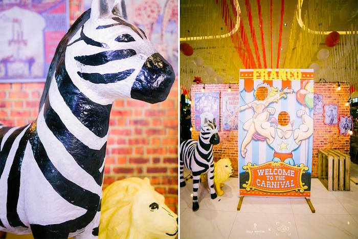 Circus Signage + Decor from a Traditional Circus Birthday Party on Kara's Party Ideas | KarasPartyIdeas.com (18)
