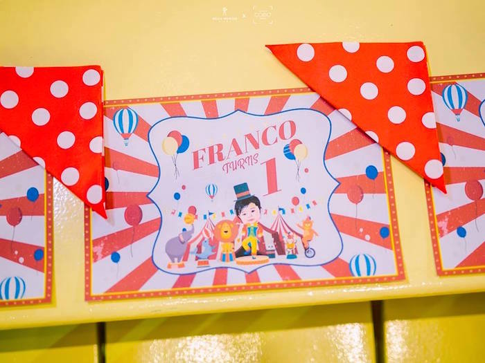 Circus Themed Placemat + Table Setting from a Traditional Circus Birthday Party on Kara's Party Ideas | KarasPartyIdeas.com (13)