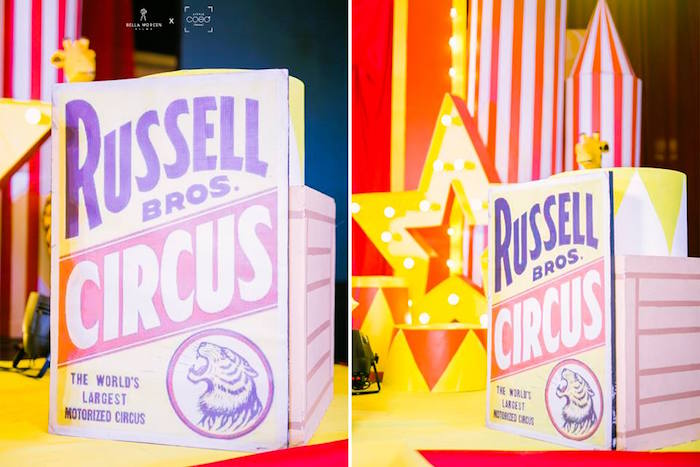Vintage Circus Signage from a Traditional Circus Birthday Party on Kara's Party Ideas | KarasPartyIdeas.com (12)