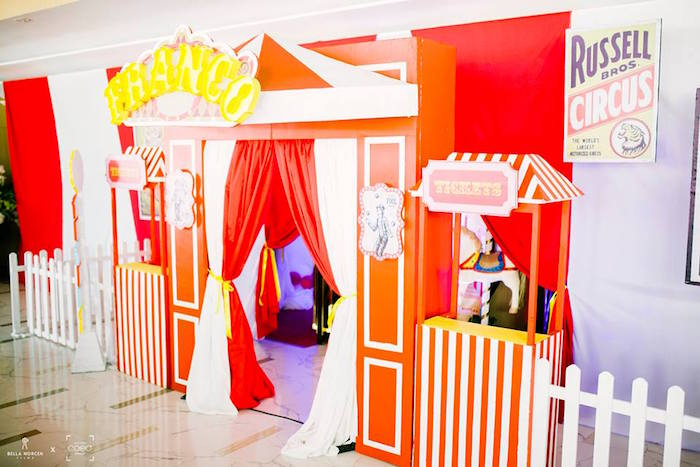 Circus Party Entrance from a Traditional Circus Birthday Party on Kara's Party Ideas | KarasPartyIdeas.com (11)