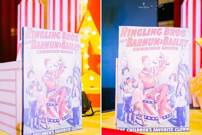 Vintage Circus Signage from a Traditional Circus Birthday Party on Kara's Party Ideas | KarasPartyIdeas.com (7)