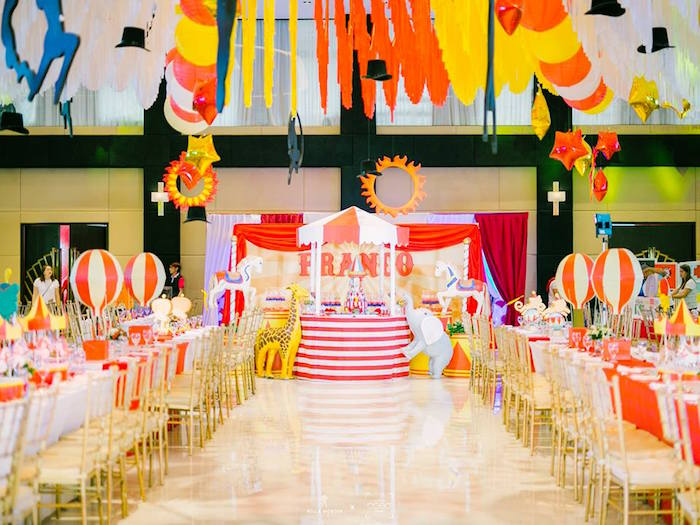 Circus Tent Dessert Tables + Party Spread from a Traditional Circus Birthday Party on Kara's Party Ideas | KarasPartyIdeas.com (30)