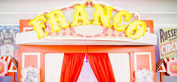 Traditional Circus Birthday Party on Kara's Party Ideas | KarasPartyIdeas.com (1)
