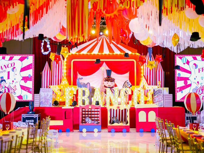 Traditional Circus Birthday Party on Kara's Party Ideas | KarasPartyIdeas.com (29)