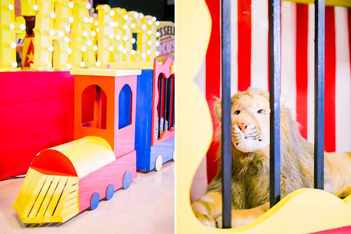 Circus Train from a Traditional Circus Birthday Party on Kara's Party Ideas | KarasPartyIdeas.com (28)