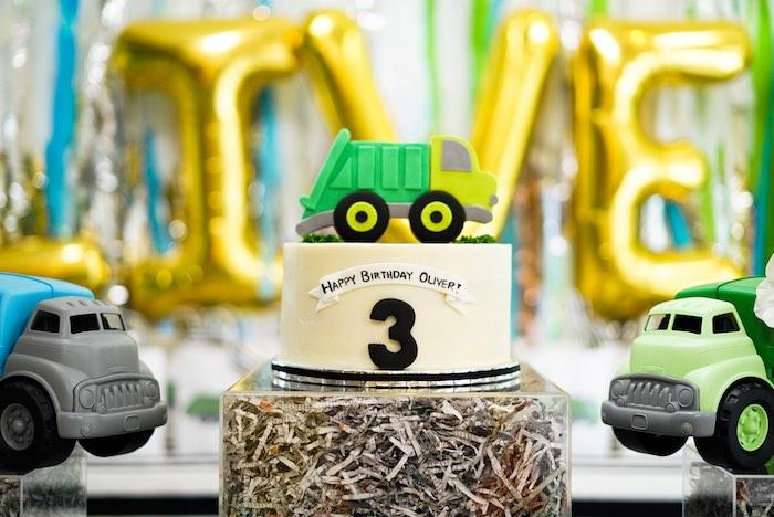 Trash Bash Birthday Cake from a Trash Bash Birthday Party on Kara's Party Ideas | KarasPartyIdeas.com (10)
