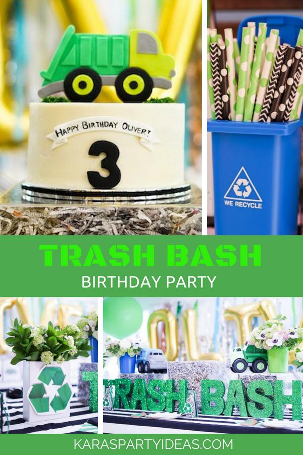 Trash Bash Birthday Party via Kara's Party Ideas - KarasPartyIdeas.com