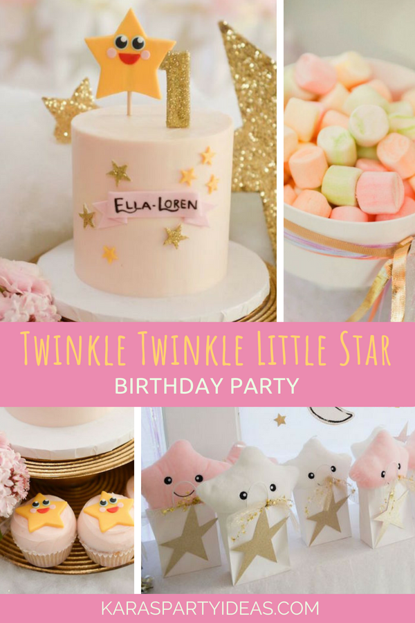 Twinkle Twinkle Little Star Birthday Party via Kara's Party Ideas - KarasPartyIdeas.com
