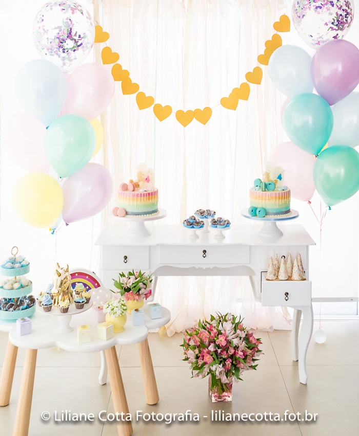 Unicorn Rainbow Art Birthday Party on Kara's Party Ideas | KarasPartyIdeas.com (15)