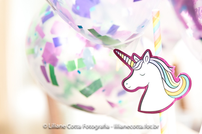 Unicorn Confetti Balloon from a Unicorn Rainbow Art Birthday Party on Kara's Party Ideas | KarasPartyIdeas.com (14)