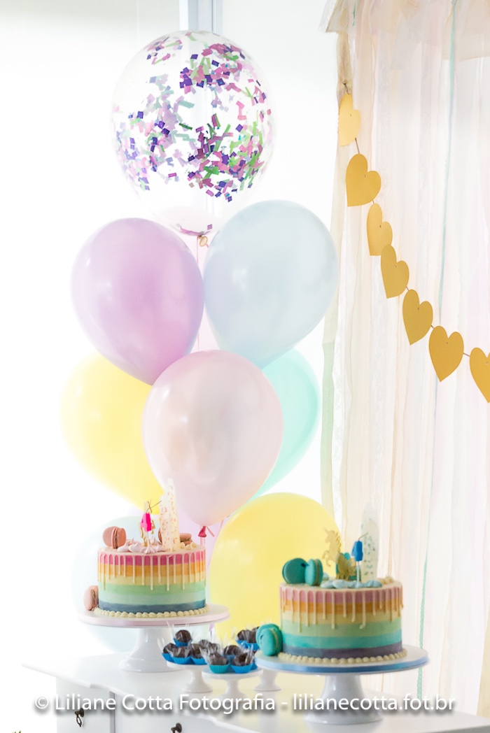 Cake Table from a Unicorn Rainbow Art Birthday Party on Kara's Party Ideas   KarasPartyIdeas.com (28)