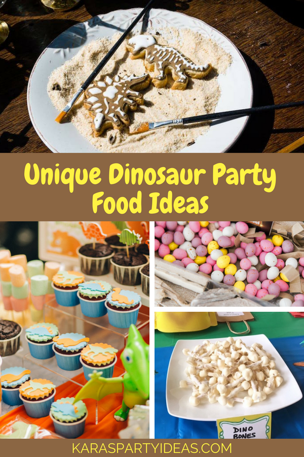 Unique Dinosaur Party Food Ideas via Kara's Party Ideas - KarasPartyIdeas.com