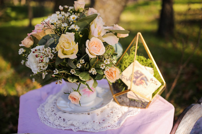 Lace & Blooms from a Vintage Alice in Wonderland Inspired Cake Smash on Kara's Party Ideas | KarasPartyIdeas.com (24)