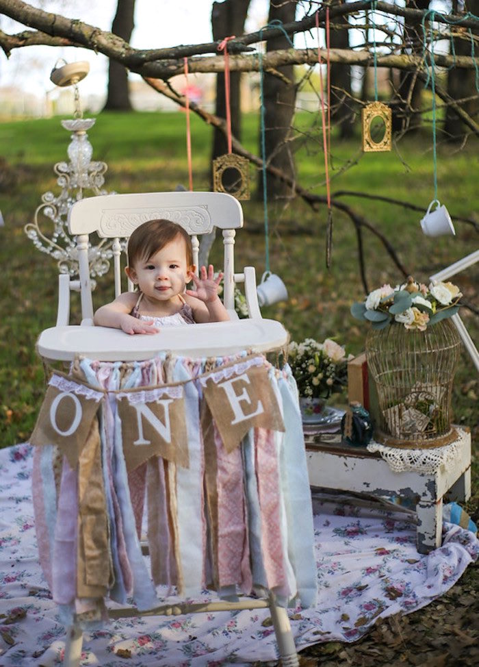 Vintage Alice in Wonderland Inspired Cake Smash on Kara's Party Ideas | KarasPartyIdeas.com (10)