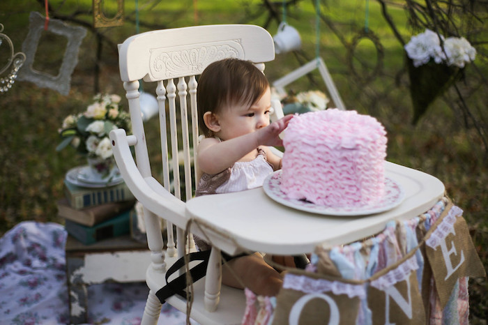 Vintage Alice in Wonderland Inspired Cake Smash on Kara's Party Ideas | KarasPartyIdeas.com (9)