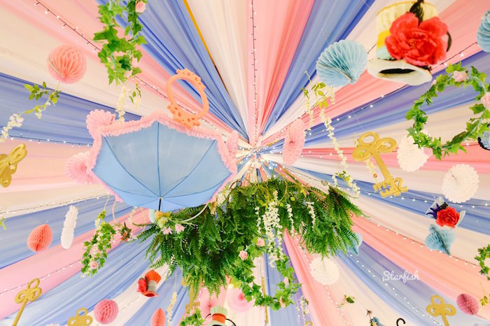 Alice in Wonderland-inspired Ceilingscape from a Whimsical Alice in Wonderland Birthday Party on Kara's Party Ideas | KarasPartyIdeas.com (37)
