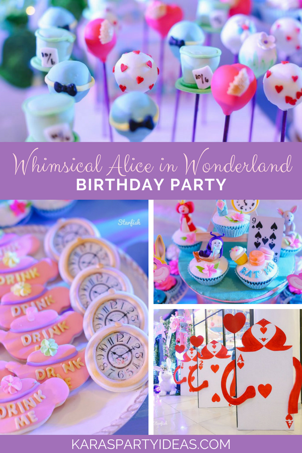 Whimsical Alice in Wonderland Birthday Party via Kara's Party Ideas - KarasPartyIdeas.com
