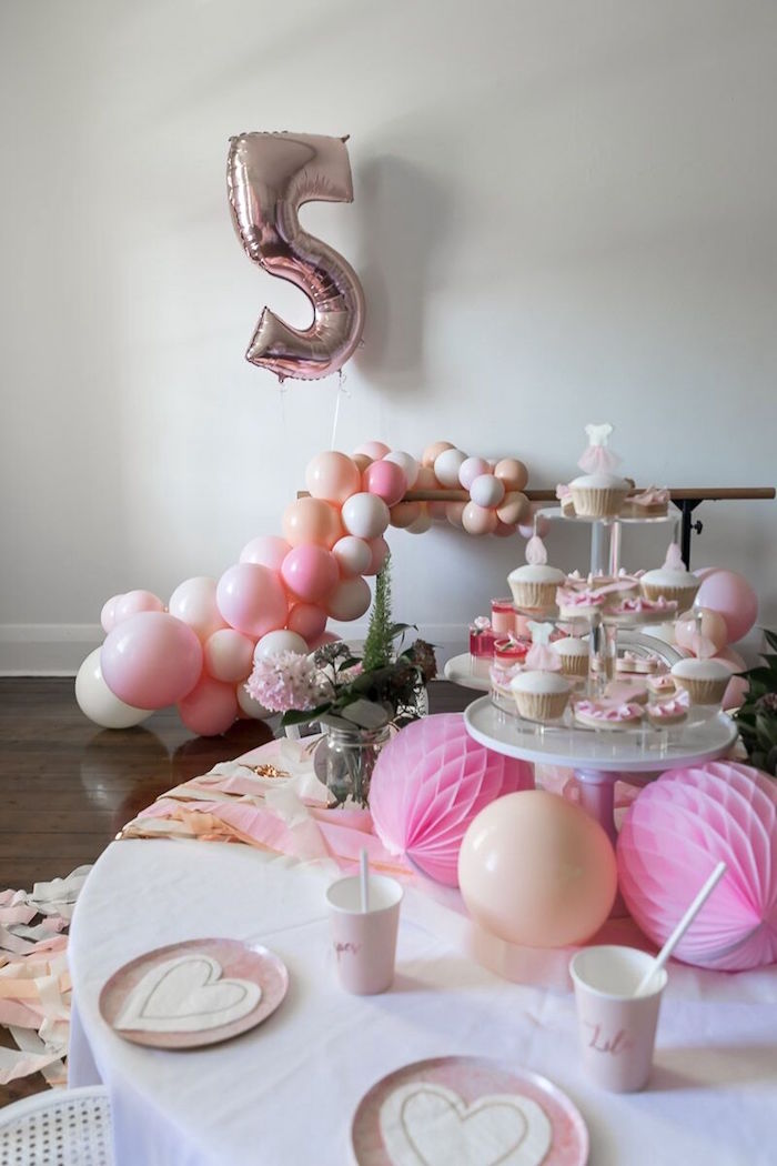 Pink + White Ballerina Birthday Party on Kara's Party Ideas | KarasPartyIdeas.com