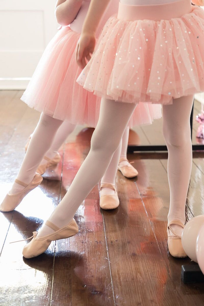 Ballet Toes from a Pink + White Ballerina Birthday Party on Kara's Party Ideas | KarasPartyIdeas.com