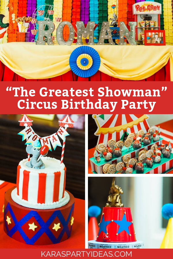 """The Greatest Showman"" Circus Birthday Party via Kara's Party Ideas - KarasPartyIdeas.com"