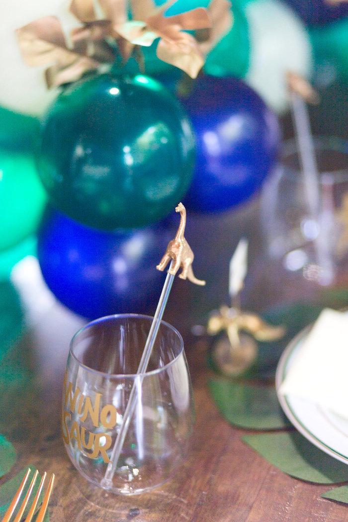 "Dinosaur Drink Cup from a ""Rawr for Love"" Dinosaur Bridal Shower on Kara's Party Ideas | KarasPartyIdeas.com (13)"