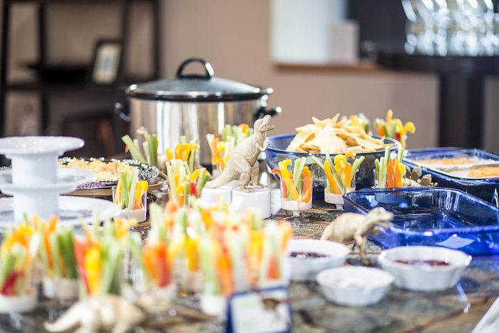 "Dinosaur Grazing + Food Table from a ""Rawr for Love"" Dinosaur Bridal Shower on Kara's Party Ideas | KarasPartyIdeas.com (8)"