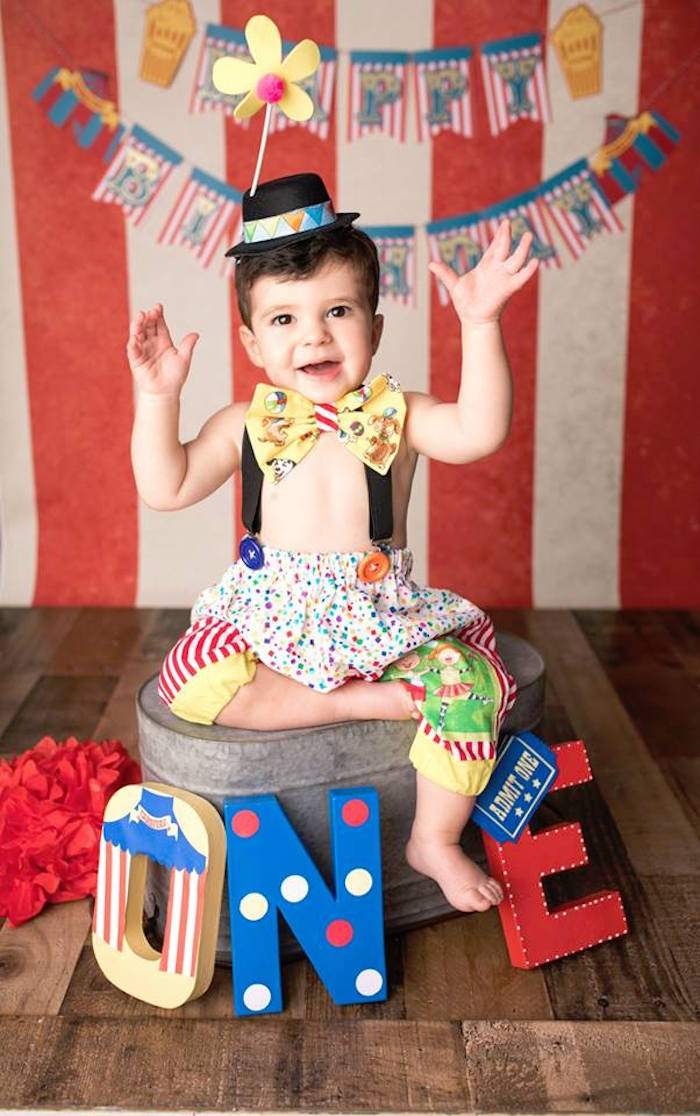 "Circus Photo Booth from ""The Greatest Showman"" Circus Birthday Party on Kara's Party Ideas 
