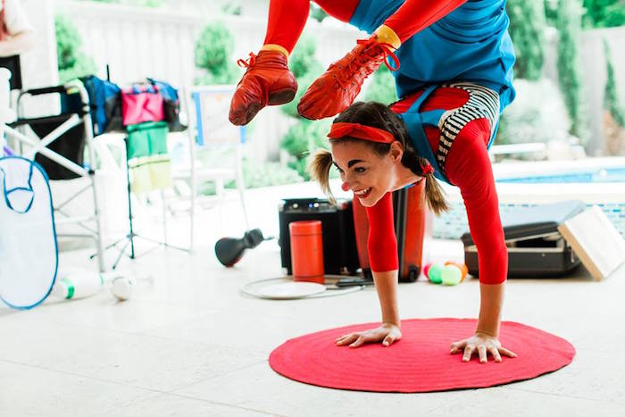"Entertainment from ""The Greatest Showman"" Circus Birthday Party on Kara's Party Ideas 