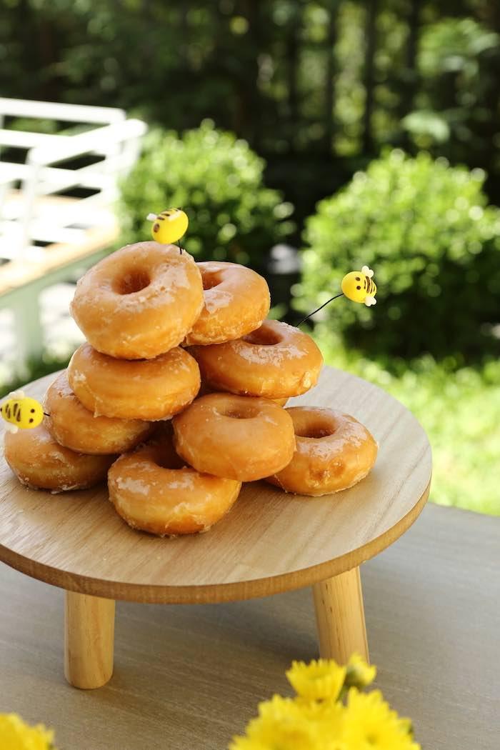 Doughnuts from a Baby Bear 1st Birthday Party on Kara's Party Ideas | KarasPartyIdeas.com (6)