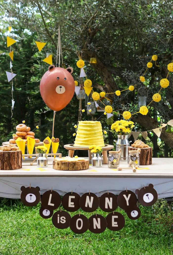 Baby Bear 1st Birthday Party on Kara's Party Ideas | KarasPartyIdeas.com (17)