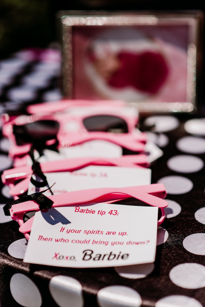 666a3b8ce Pink Sunnies + Favors from a Barbie 5th Birthday Party on Kara's Party  Ideas | KarasPartyIdeas